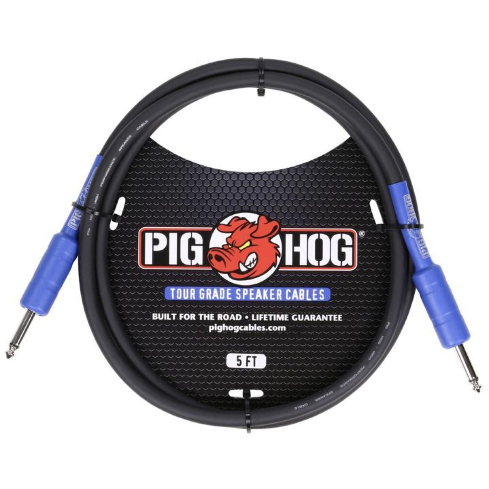 Pig Hog Pig Hog 8mm Tour Grade Speaker Cable, 5ft (14 gauge wire) (PHSC5)