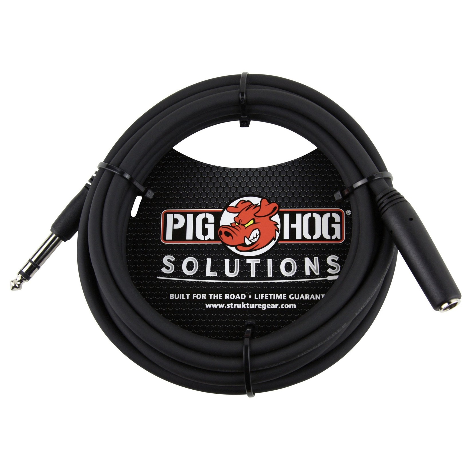 """Pig Hog Pig Hog  Solutions 10-foot TRS/Headphone Extension Cable, 1/4"""" TRS(M)-1/4""""TRS(F) (PHX14-10)"""