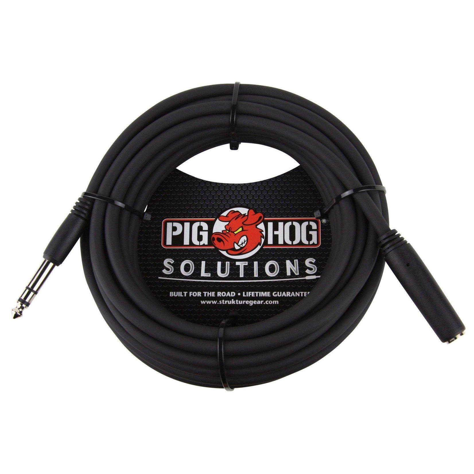 "Pig Hog Pig Hog Solutions 25-foot TRS/Headphone Extension Cable (1/4"" M-F Connectors) PHX14-25"