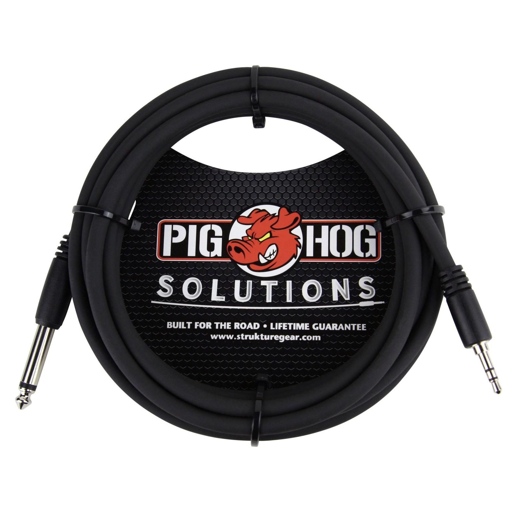 "Pig Hog Pig Hog Solutions 10-Foot 3.5mm TRS to 1/4"" Mono, PX-35T4M"