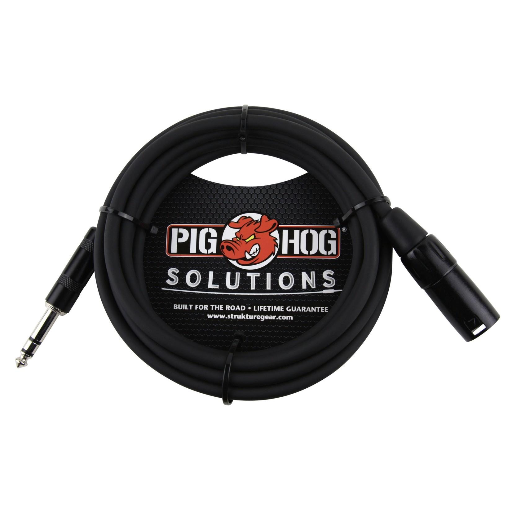 """Pig Hog Pig Hog Solutions 5-foot 1/4"""" TRS(Male)-XLR(Male) Balanced Cable (PX-TMXM05)"""