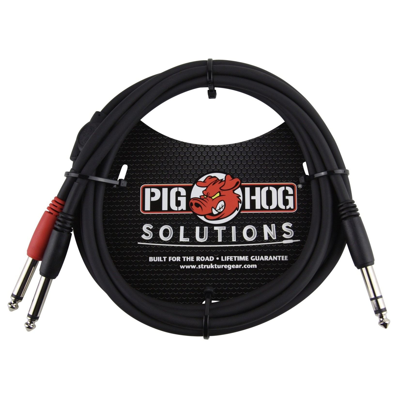 "Pig Hog Pig Hog Solutions 6-Foot TRS(M) to Dual 1/4"" TS(M) Insert Cable, PYIC06"