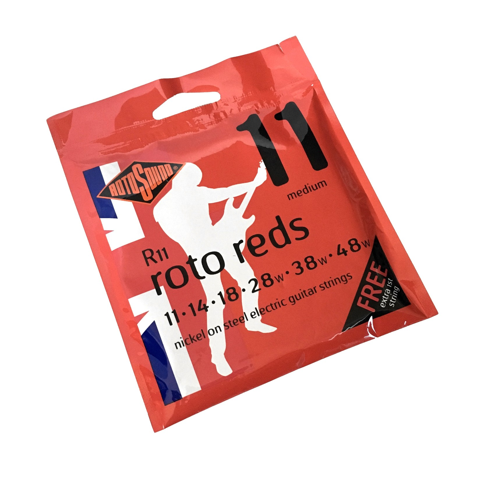 Rotosound 3x (three packs) Rotosound R11 Roto Reds Nickel on Steel Electric Guitar Strings