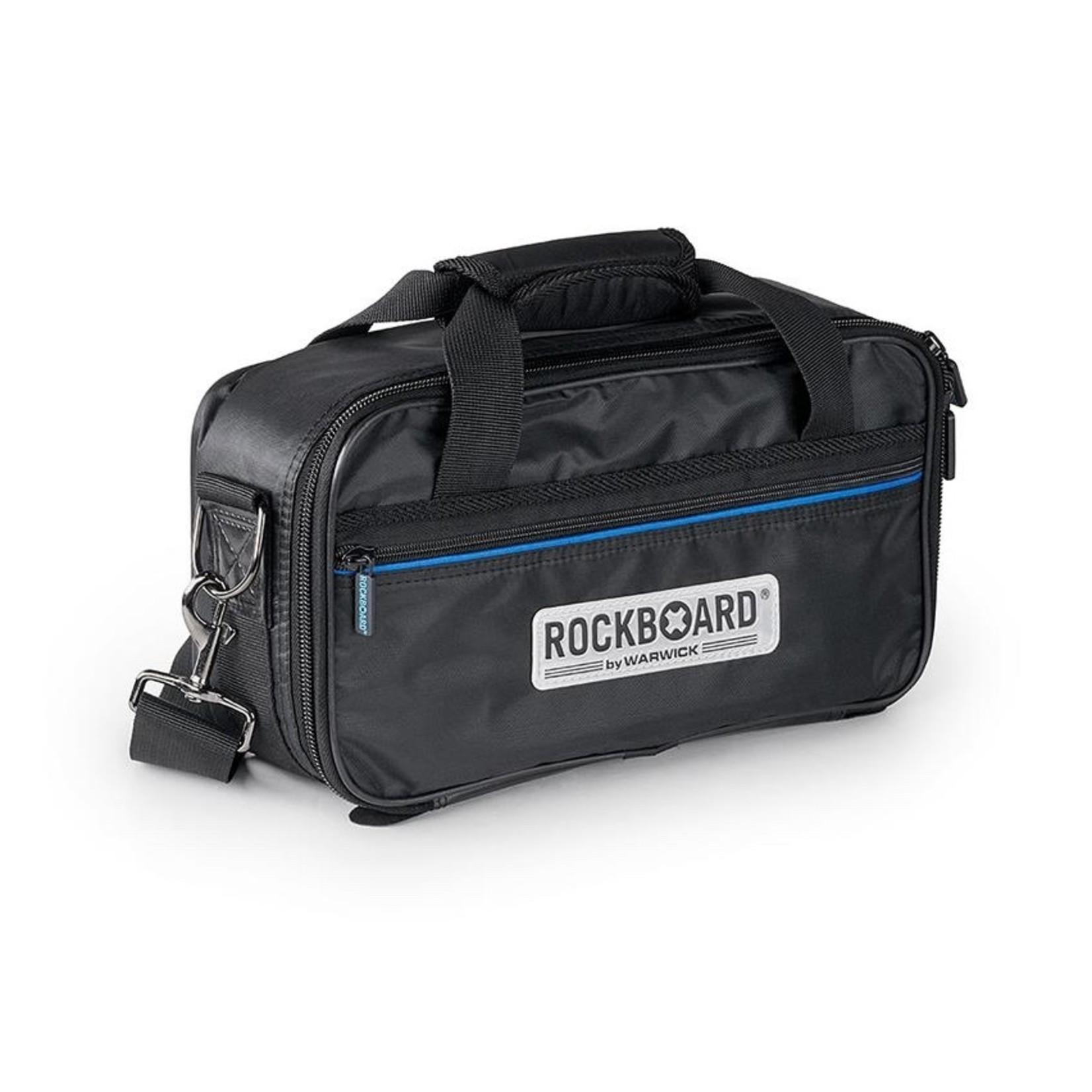 """Rockboard Rockboard Duo 2.0 Small (3-5 pedals) Pedalboard with Gigbag (12 5/8"""" x 5 1/2"""")"""