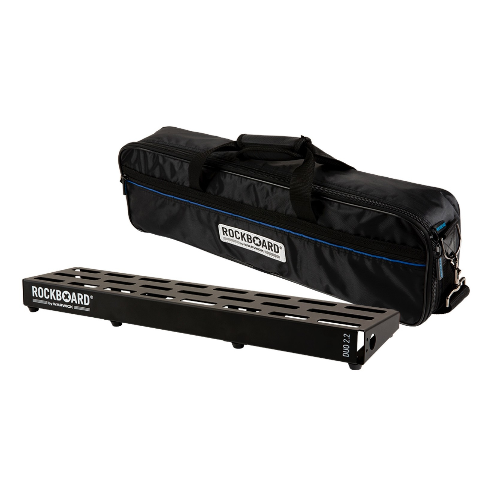 "Rockboard RockBoard DUO 2.2, Pedalboard with Gig Bag (for 5-9 pedals), approx. 24.5"" x 5.5"""
