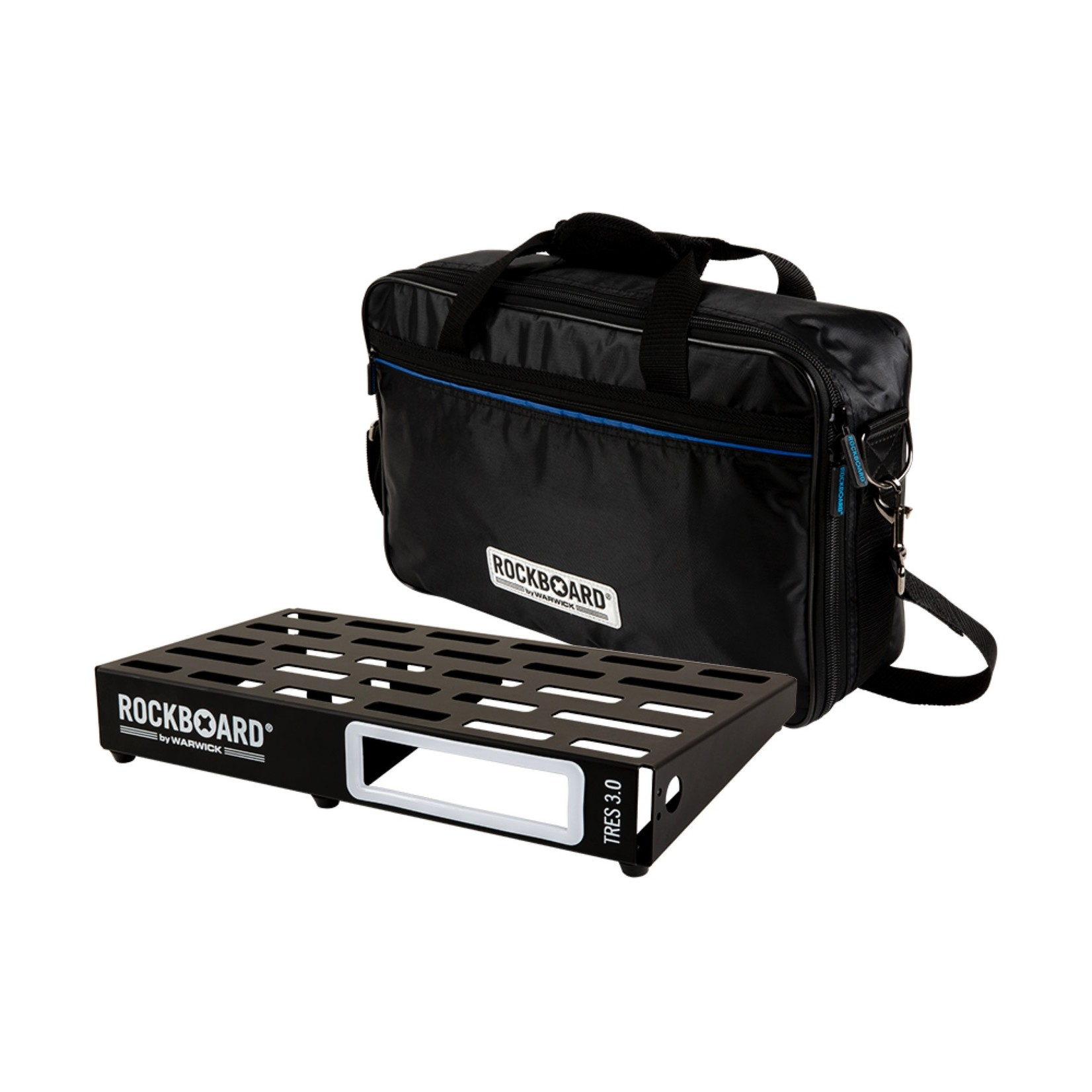 """Rockboard RockBoard TRES 3.0, Pedalboard with Gig Bag, for 5-10 effects pedals (approx. 17.3"""" x 9.3"""")"""