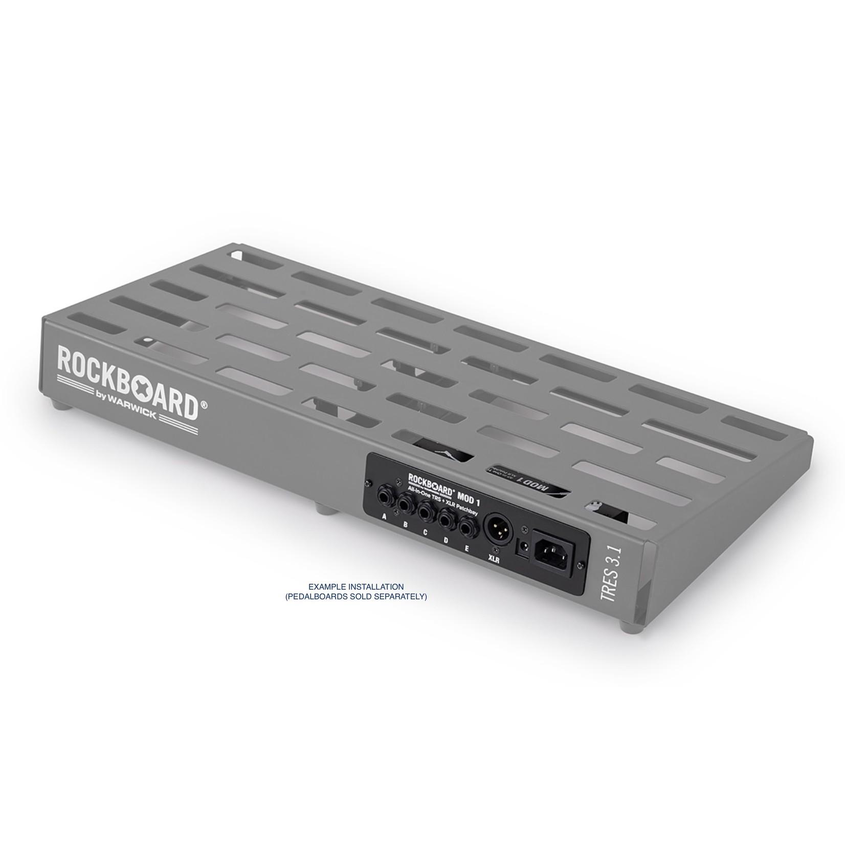 Rockboard Rockboard MOD1 v2 TRS   XLR Pedalboard Patchbay (New V2 w/ detachable front plate for top mounting!)