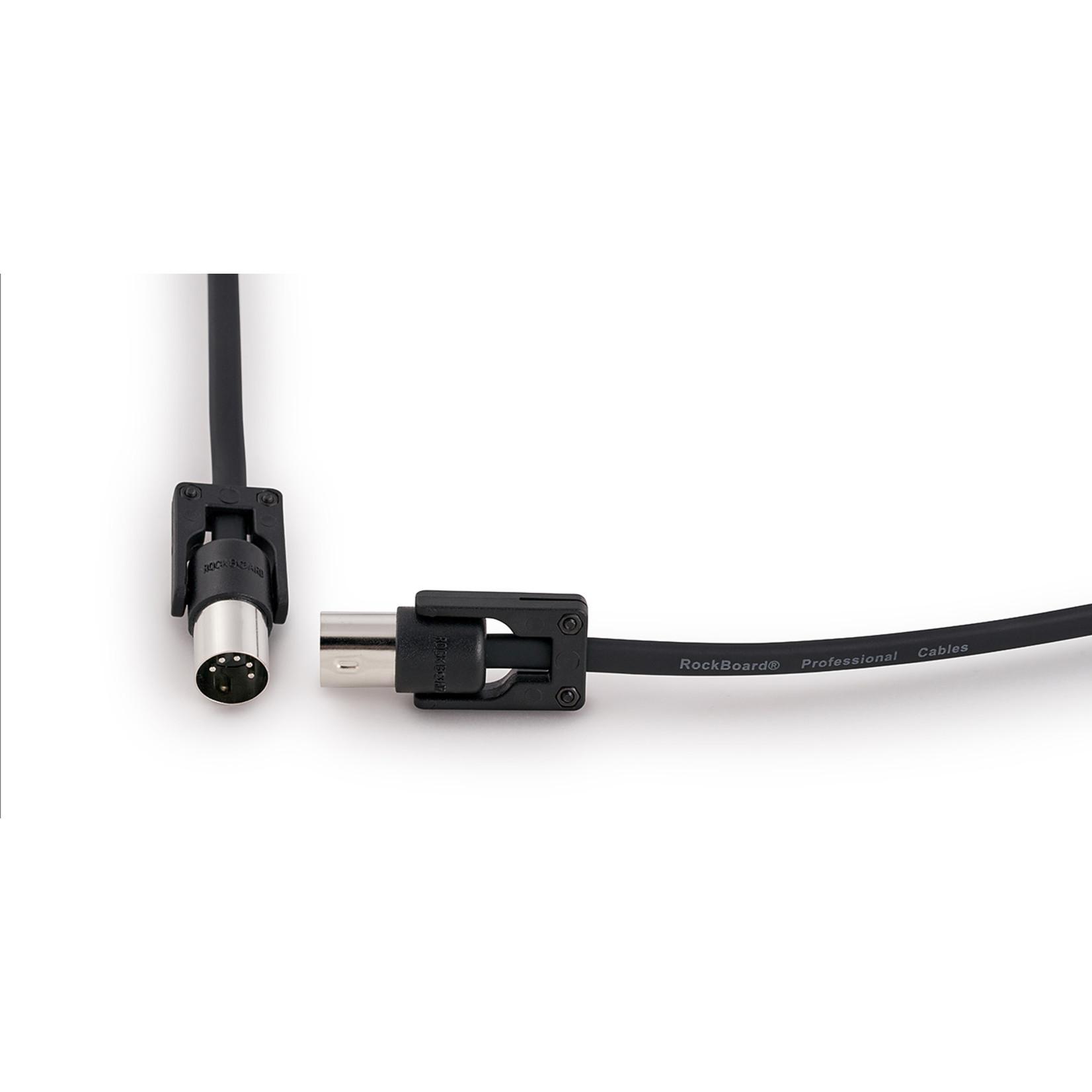 Rockboard RockBoard FlaX Plug 200cm (6.56') flat MIDI Cable - angle or straight (RBO CAB MD FX 200 BK)