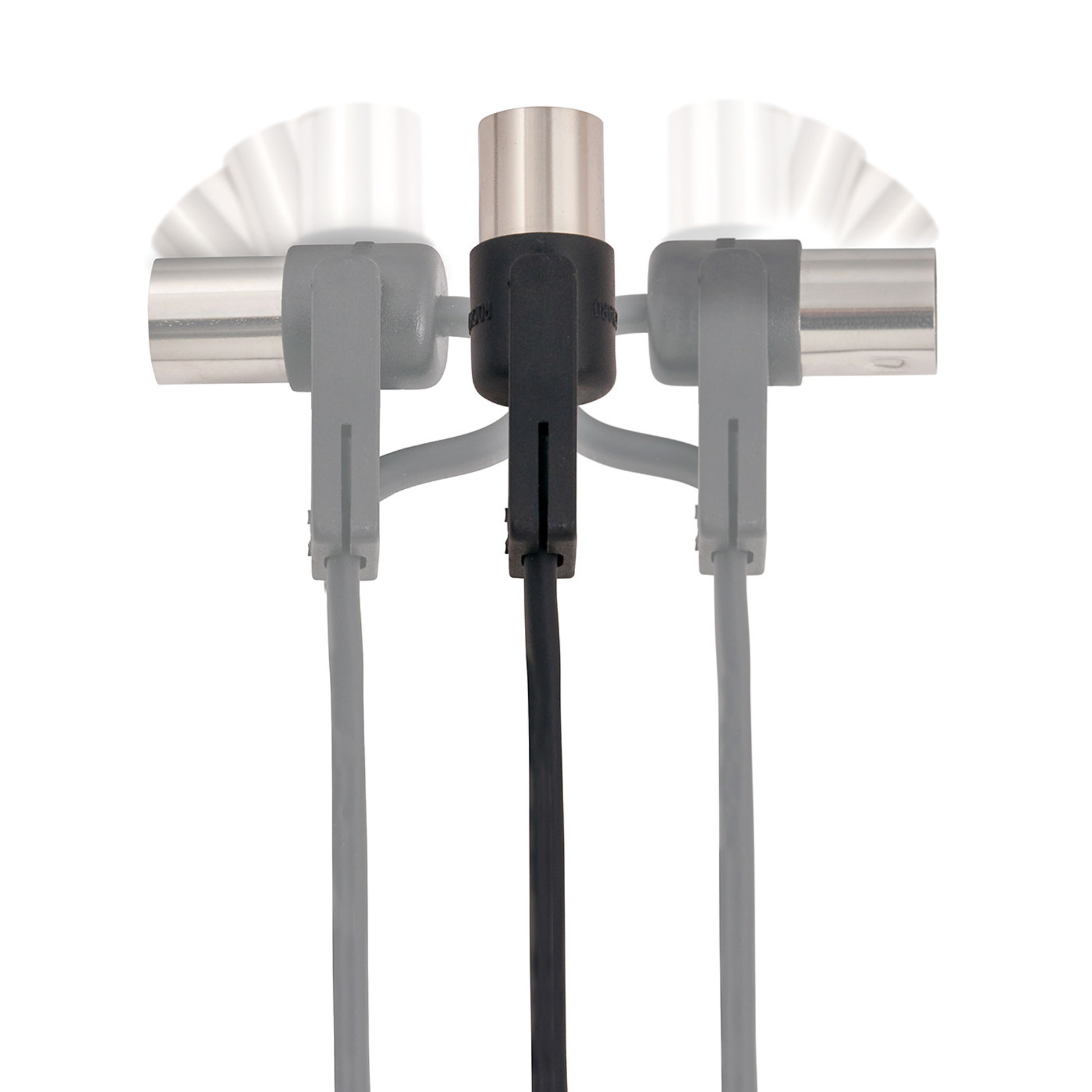Rockboard RockBoard FlaX Plug 500cm (16.40') flat MIDI Cable - angle or straight (RBO CAB MD FX 500 BK)