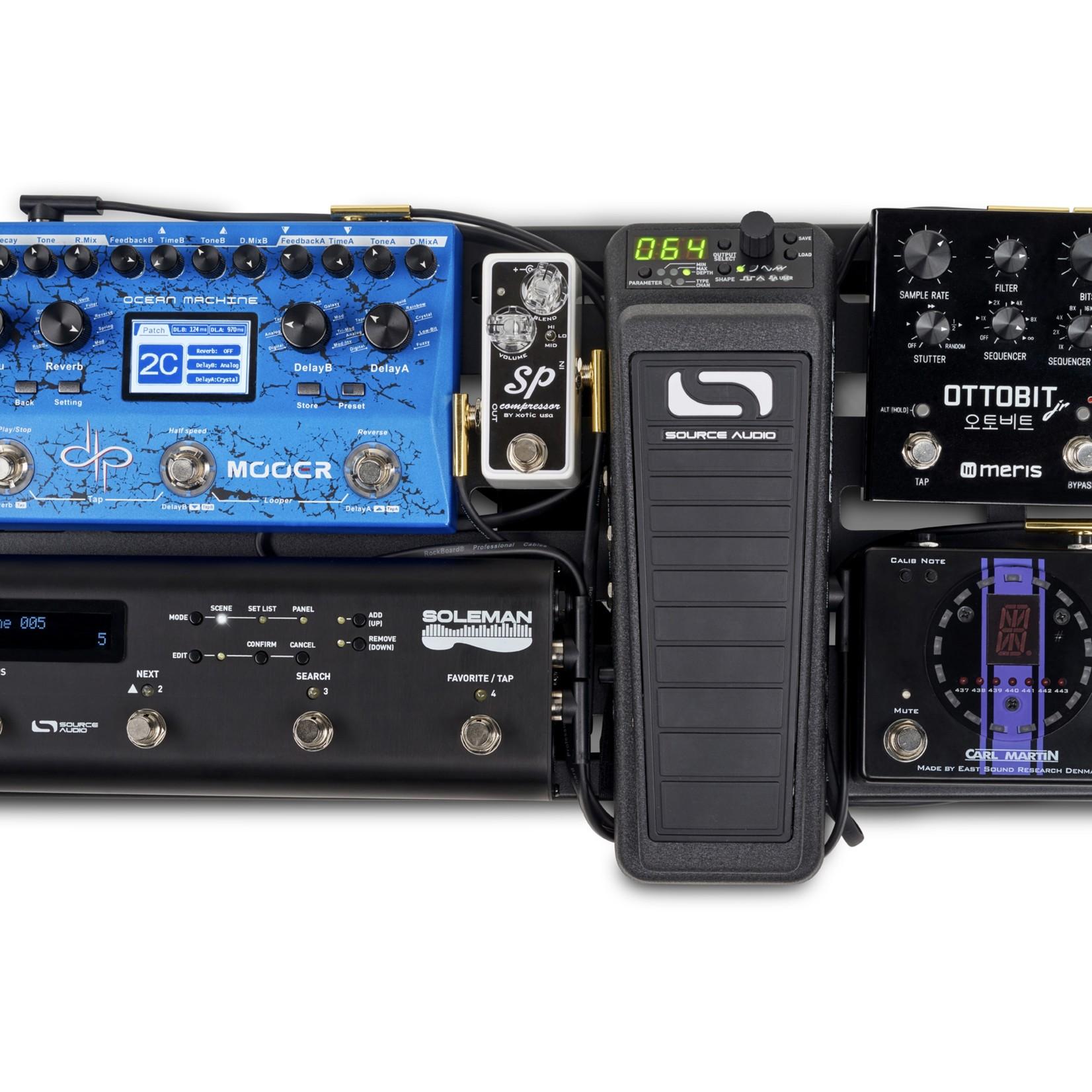 "Rockboard Rockboard Flat MIDI Cable - 100 cm (39 3/8""), Black , Angled Plugs"