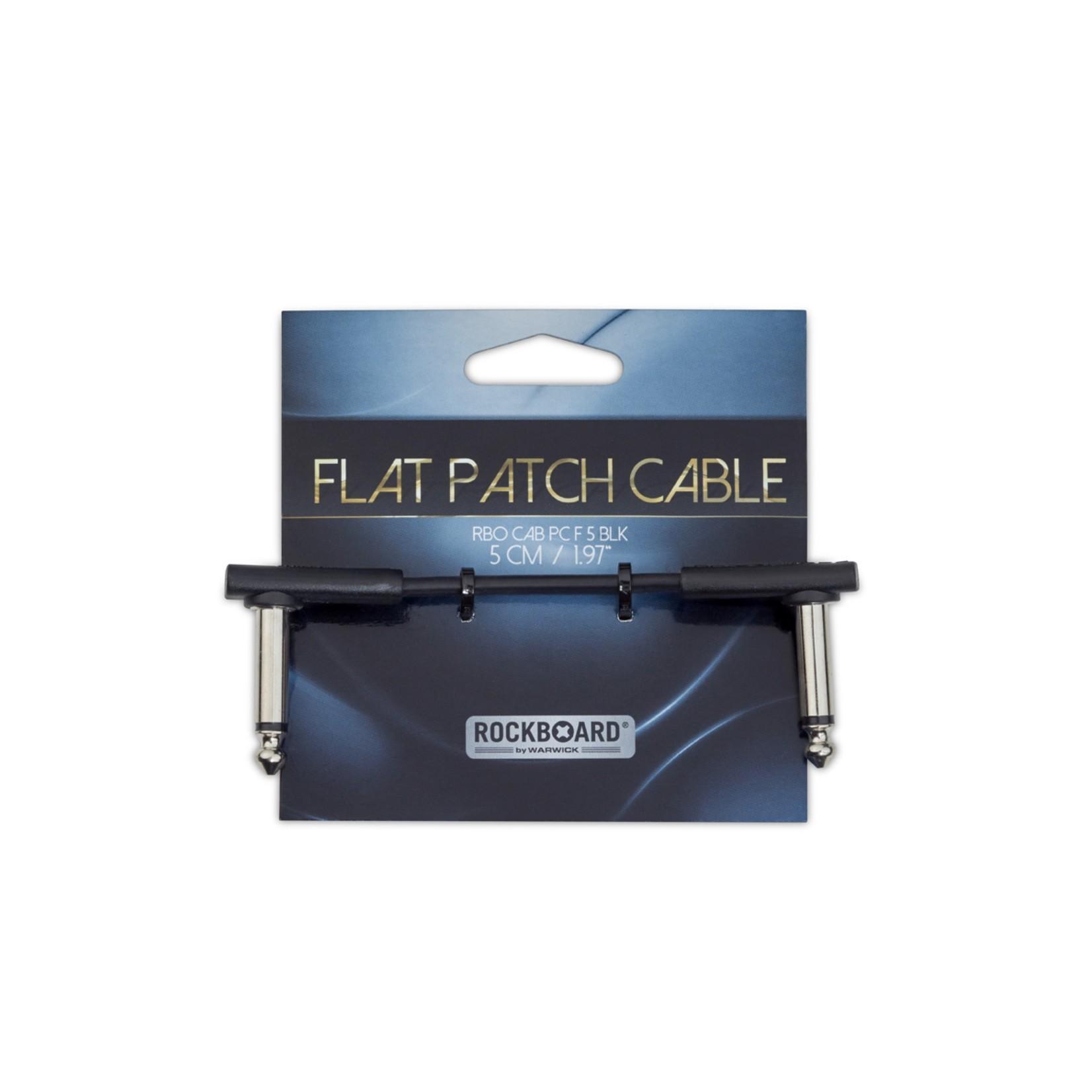 """Rockboard RockBoard Flat Patch Cable, Black, 5 cm (1 15/16""""), low profile"""