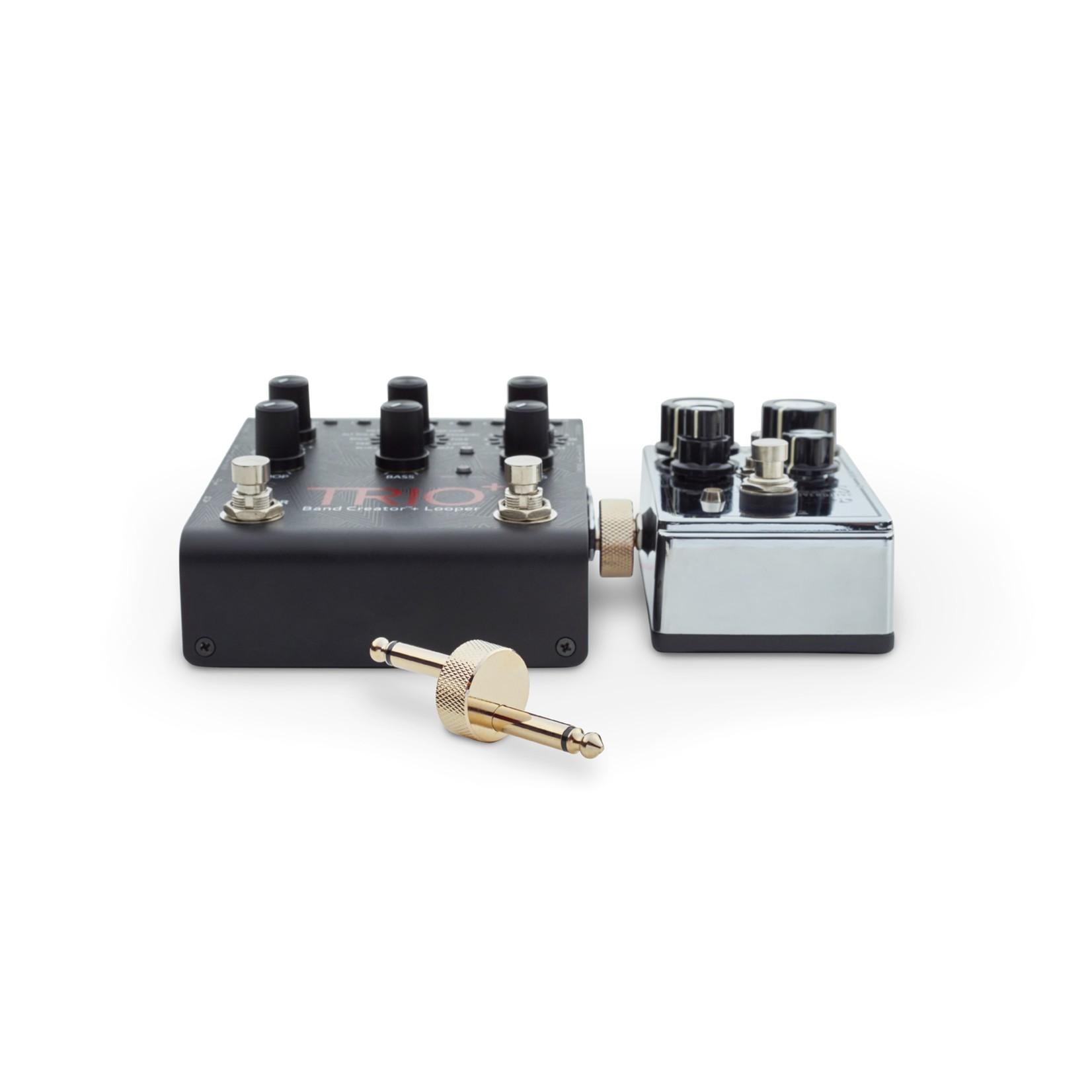 "Rockboard Rockboard Compact Pedal Z-Connector/Coupler, Gold - Plug to Plug Length: 10mm / 3/8"""