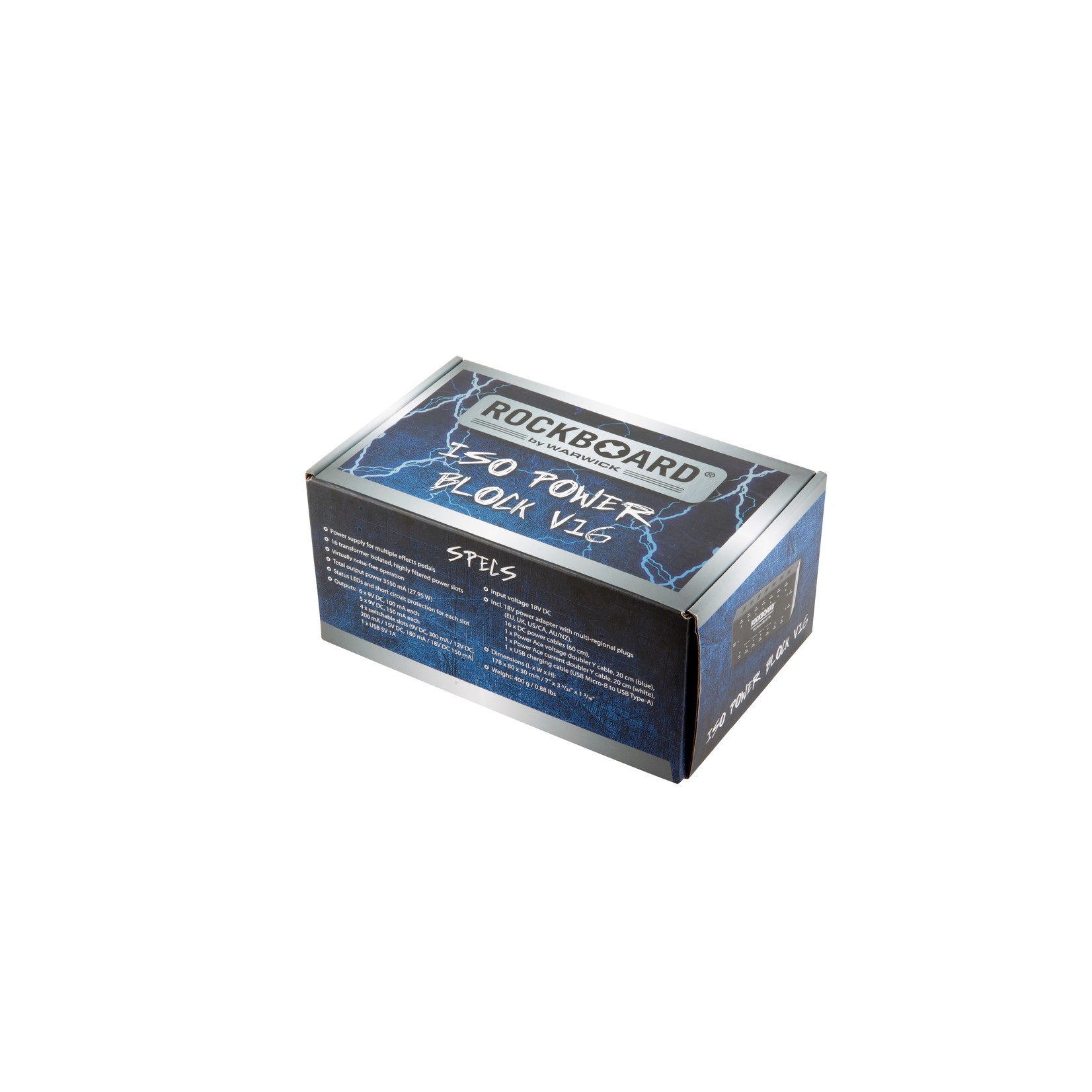 Rockboard Rockboard ISO Power Block V16 Isolated Pedal Multi-Power Supply (9V, 12V, 15V, 18V, USB)