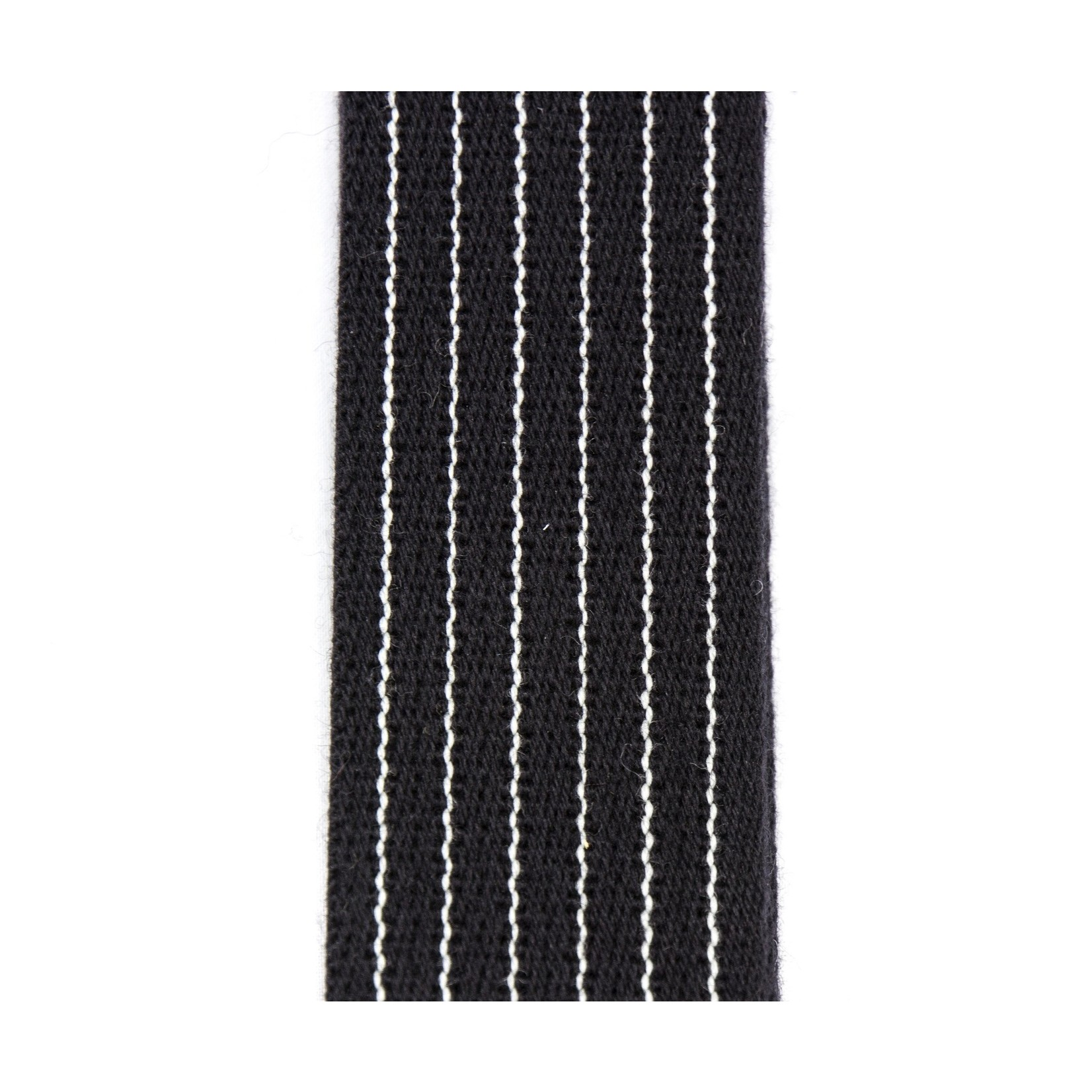 """Reunion Blues Reunion Blues Merino Wool 2"""" Wide Guitar Strap, Black with Pinstripes (RBS-28PS), Length = 42""""-60"""""""