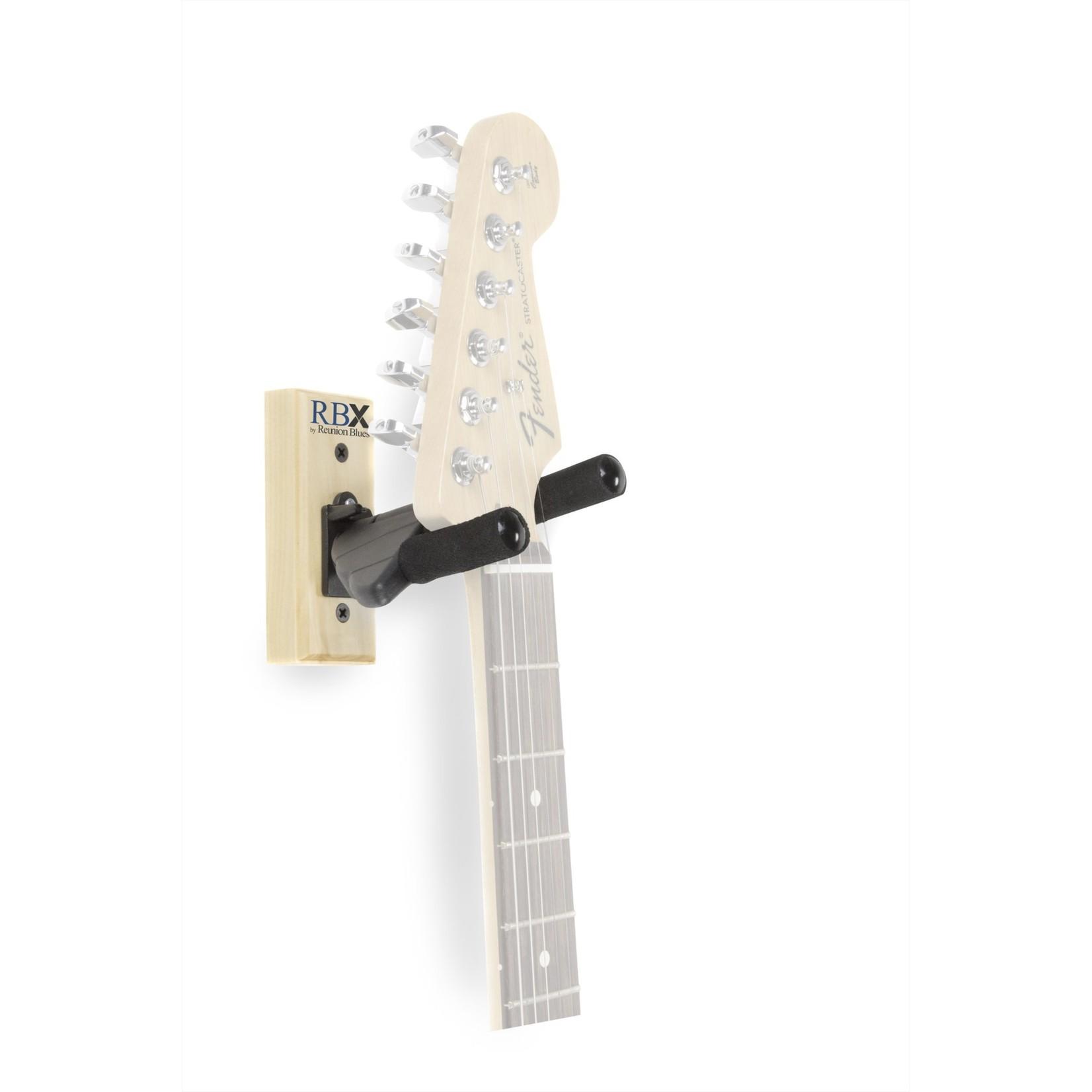 Reunion Blues Reunion Blues RBXS-WHBK Guitar/Bass Wall Hanger with Padded Self-Locking Yoke, Natural