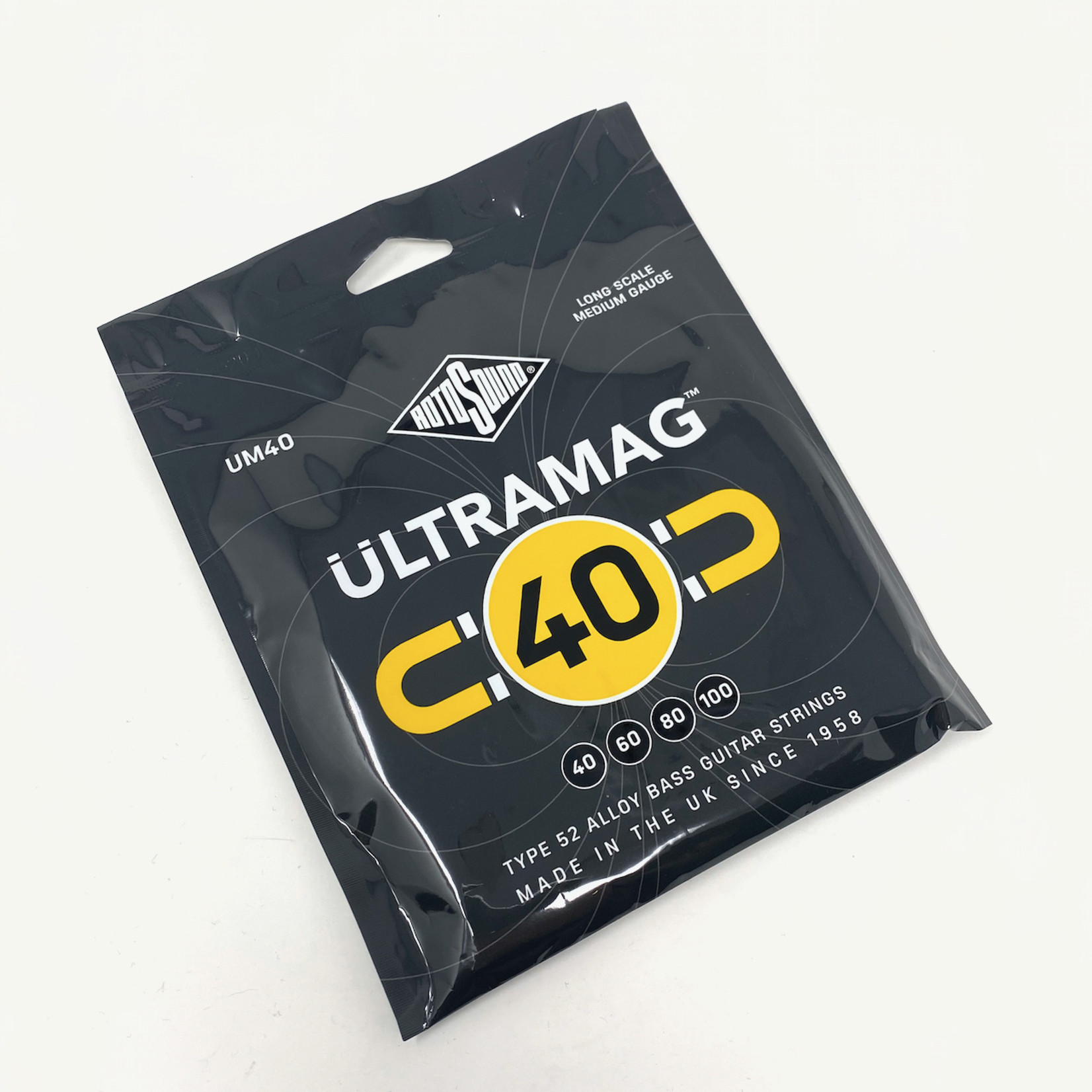 Rotosound Rotosound Ultramag 40 - Type 52 Alloy Bass Guitar Strings, Long Scale (40 60 80 100) - NEW