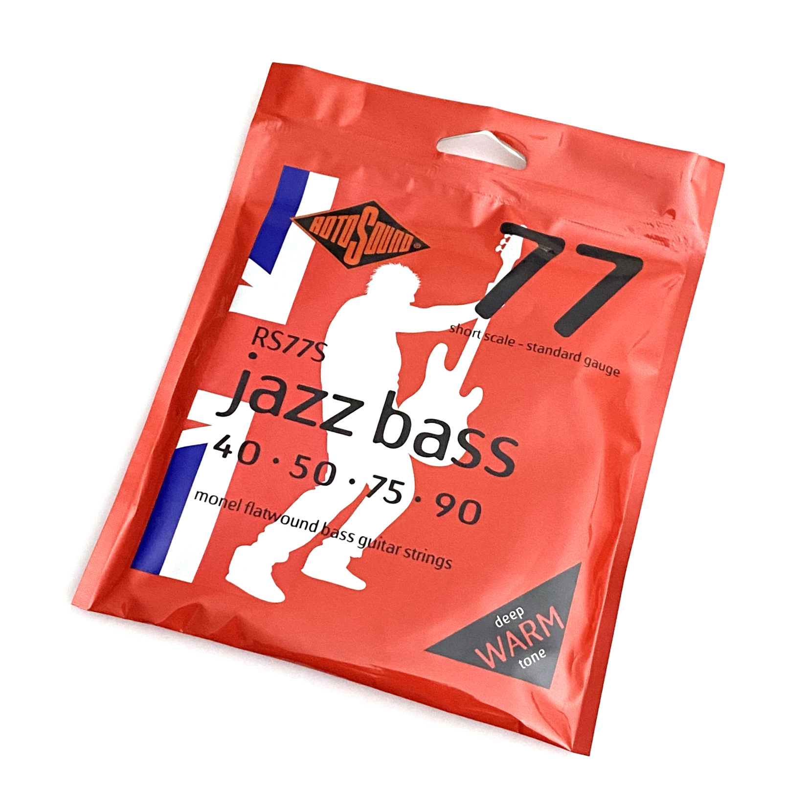 Rotosound Rotosound RS77S Jazz Bass 77 Short Scale Standard Flatwound Bass Strings, 4-String Set (45-105)