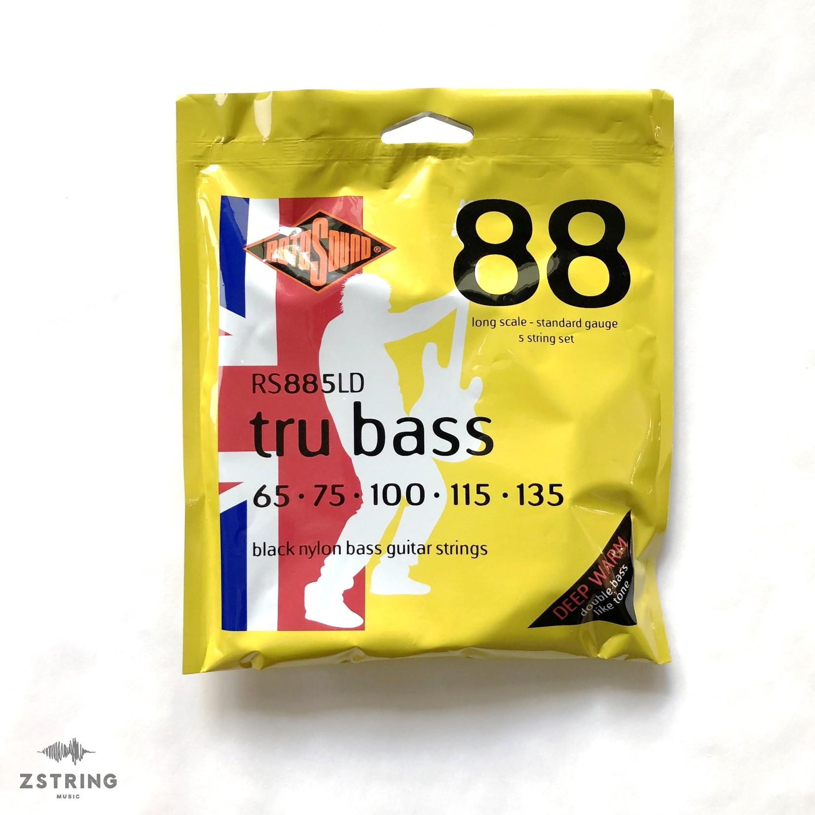 Rotosound Rotosound RS885LD (5-String Set) tru bass Black Nylon Bass Strings, Long Scale, Standard Gauge