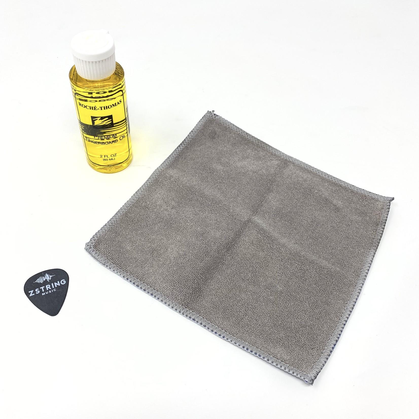 Roche-Thomas RochŽ-Thomas Premium Fingerboard/Fretboard Oil Kit - 2 Fl. Oz (60 mL) + Premium Polish Cloth (Roche)