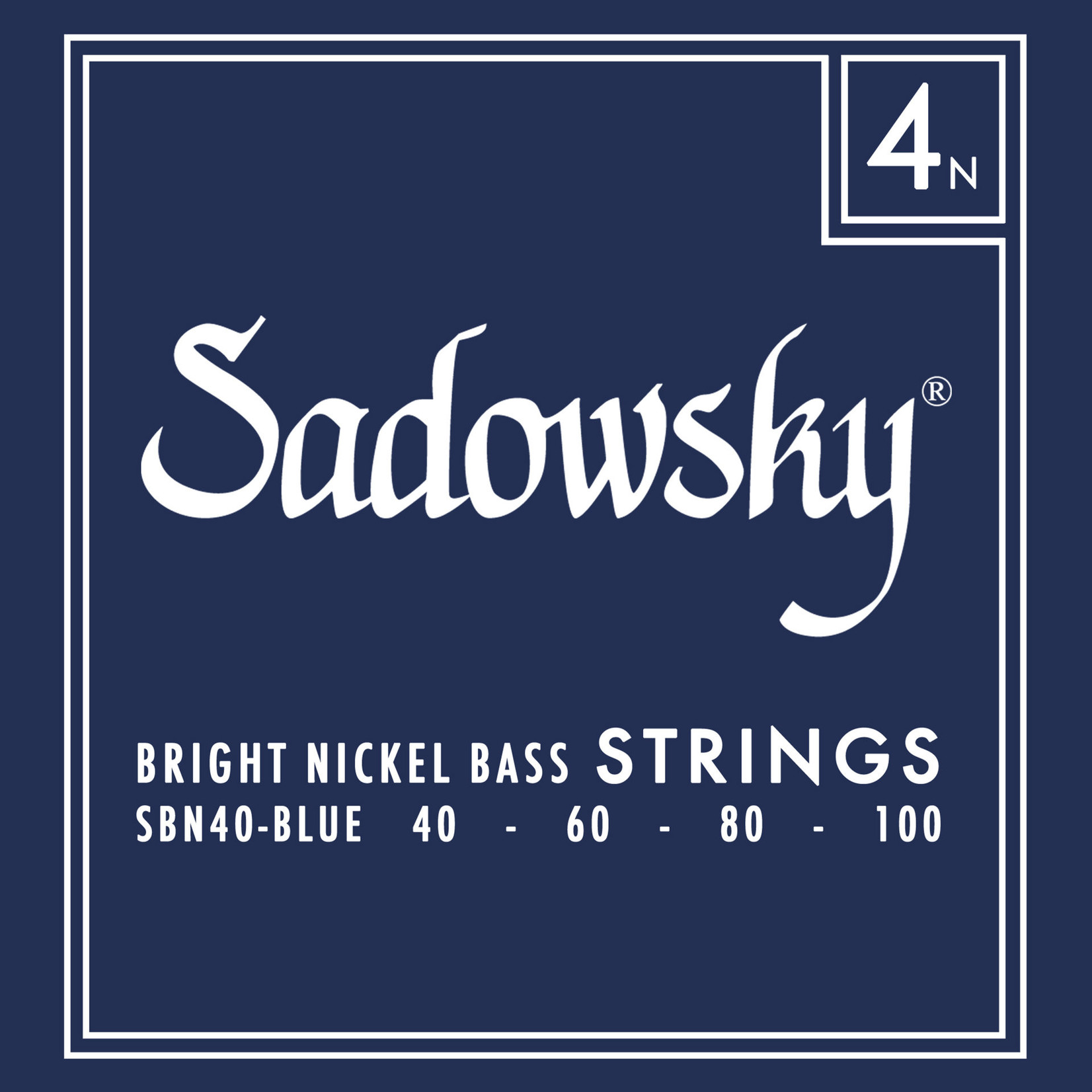 Sadowsky Sadowsky Blue Label Bass String Set - Nickel - 4 String (40-100)