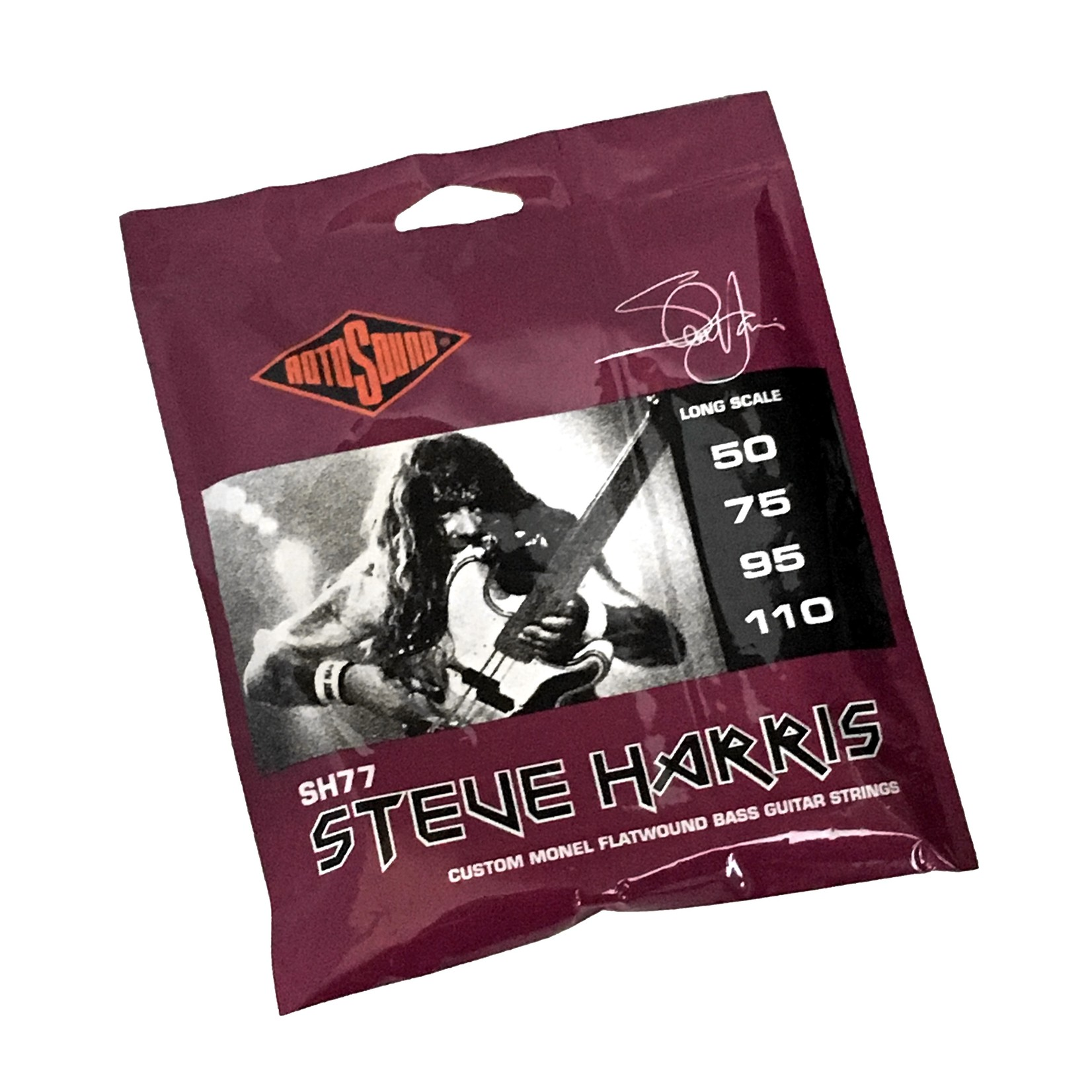 Rotosound Rotosound SH77 Steve Harris (Iron Maiden) Custom Monel Flatwound Bass Guitar Strings (50-110)