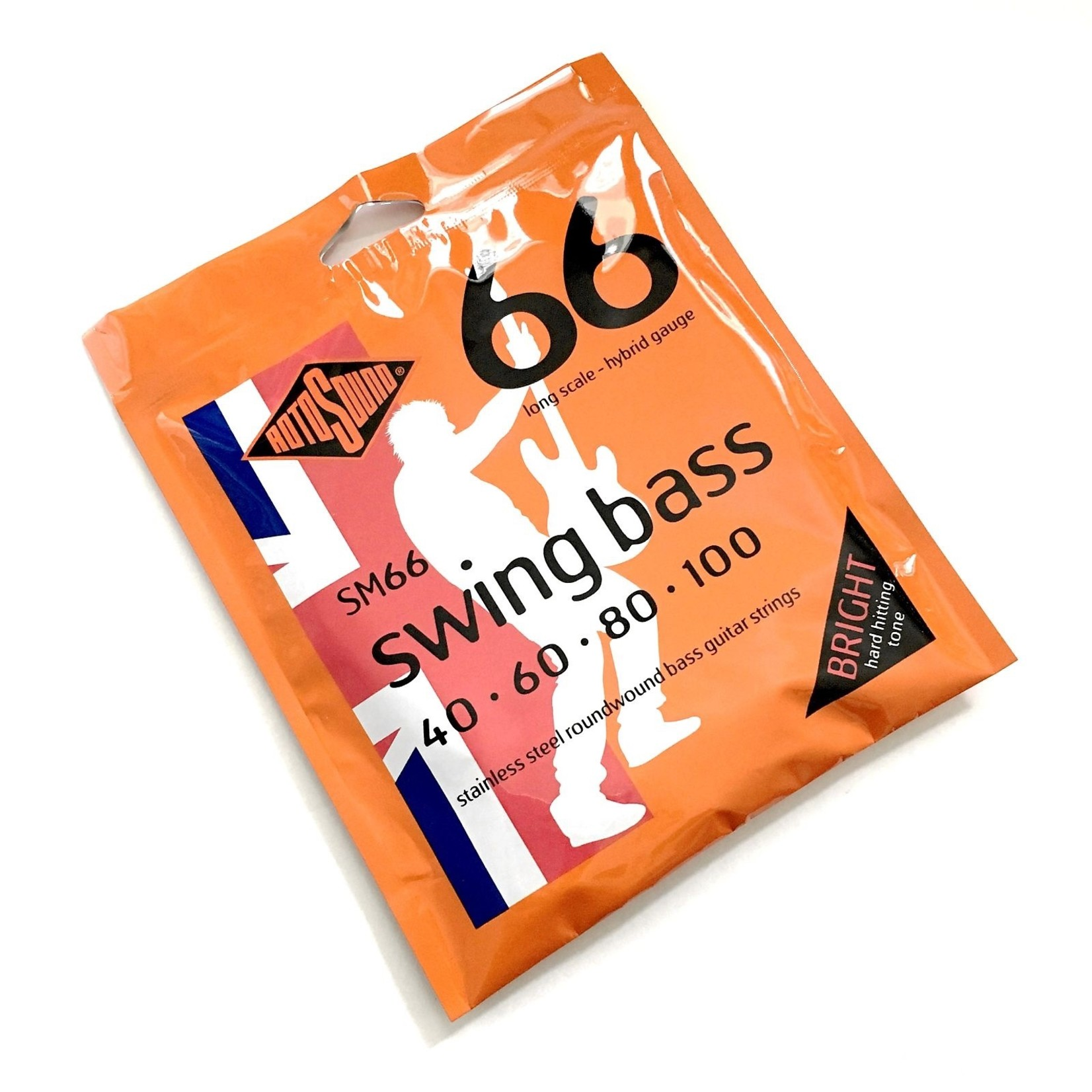 Rotosound Rotosound SM66 Long Scale - Hybrid Gauge (40-100), Stainless Steel Roundwound Bass Strings