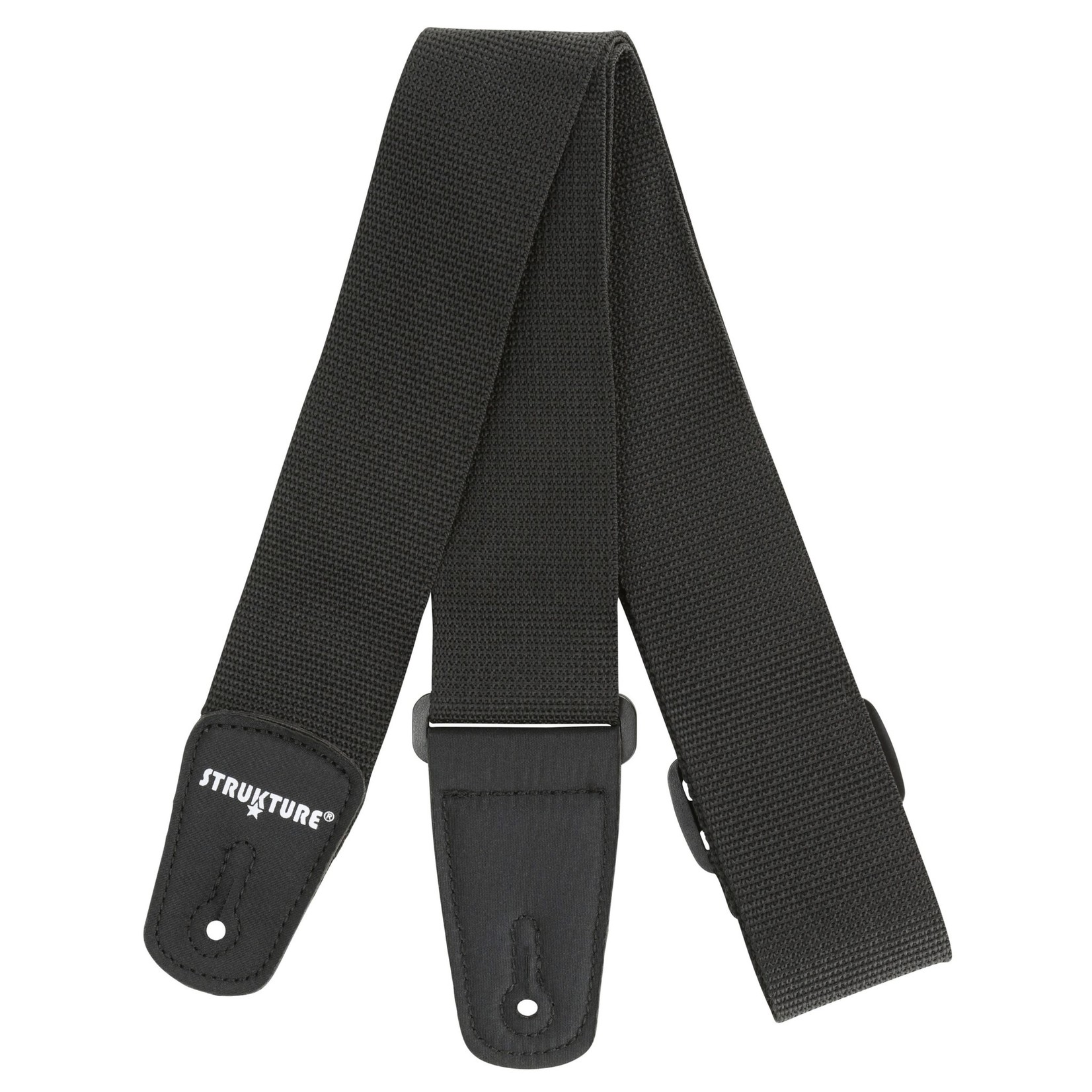 "Strukture Strukture 2"" Poly Guitar Strap with Nylon Tabs, Black"