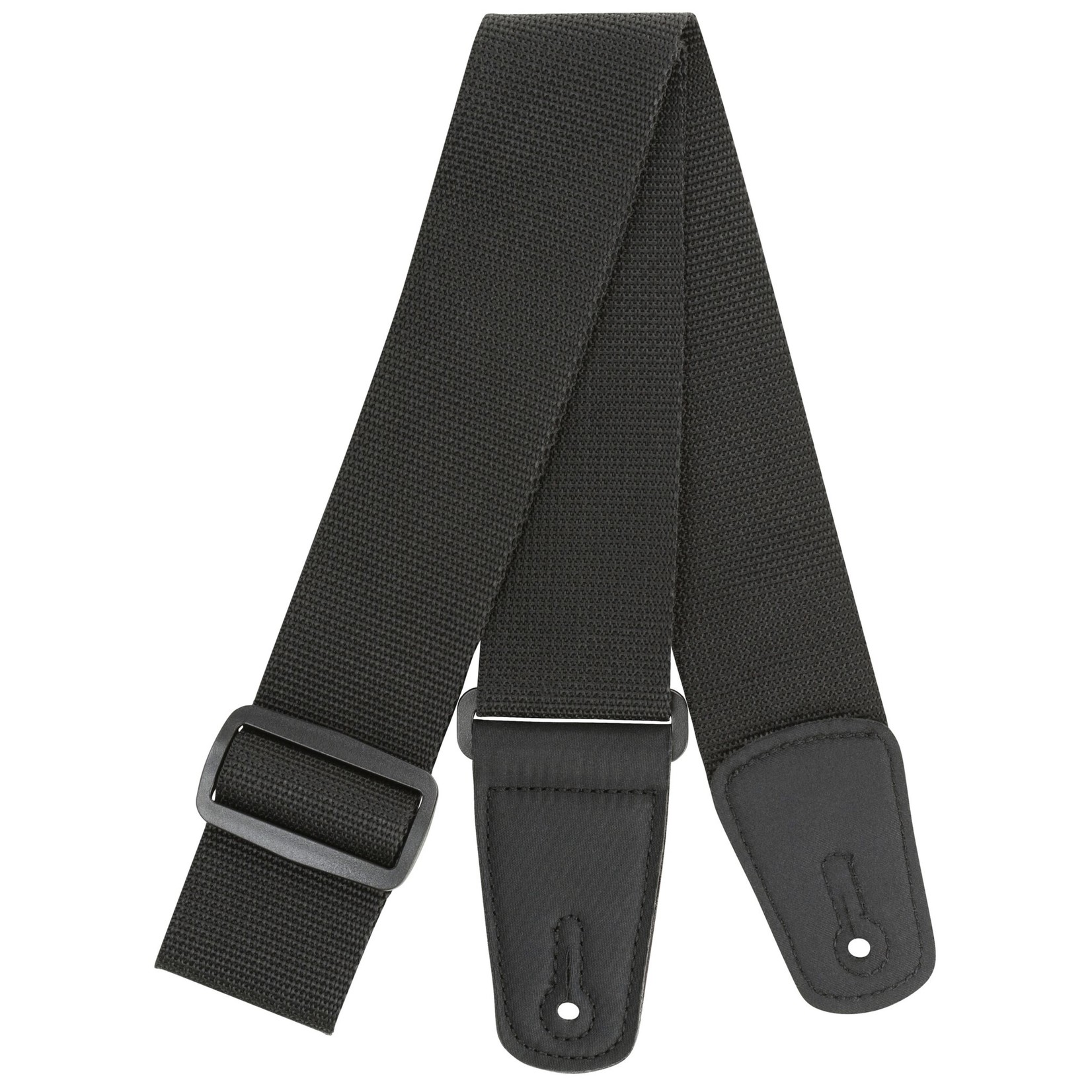 "Strukture Strukture 2"" Poly Guitar Strap with Nylon Tabs, Black"