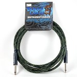 """Tsunami Cables Tsunami Cables 10' Handcrafted Premium Instrument Cable, 1/4"""" Straight-Straight, Camouflage"""