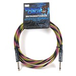 """Tsunami Cables Tsunami Cables 10' Handcrafted Premium Instrument Cable, 1/4"""" Straight-Straight, """"Hip Hop"""""""
