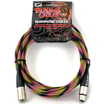 """Tsunami Cables Tsunami Cables 15' Handcrafted Premium Microphone XLR Cable """"Hip-Hop"""" (Black/Yellow/Pink)"""