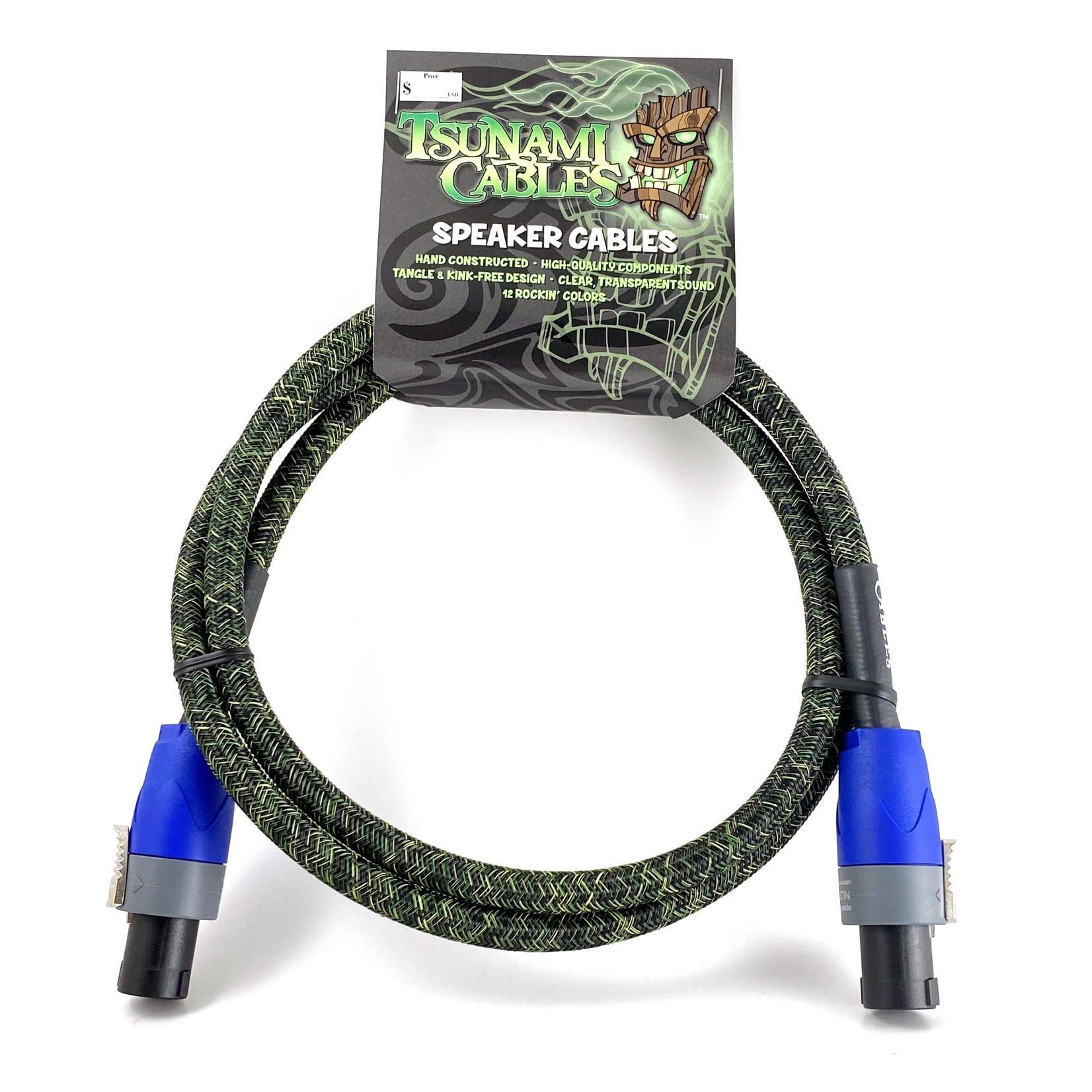 "Tsunami Cables Tsunami Cables 5' Handcrafted Premium Speaker Cable, SpeakON Connectors - ""Camouflage"""