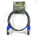 "Tsunami Cables Tsunami Cables 5' Handcrafted Premium Speaker Cable, SpeakON Connectors ""Twilight""-Teal/Black/Purple"