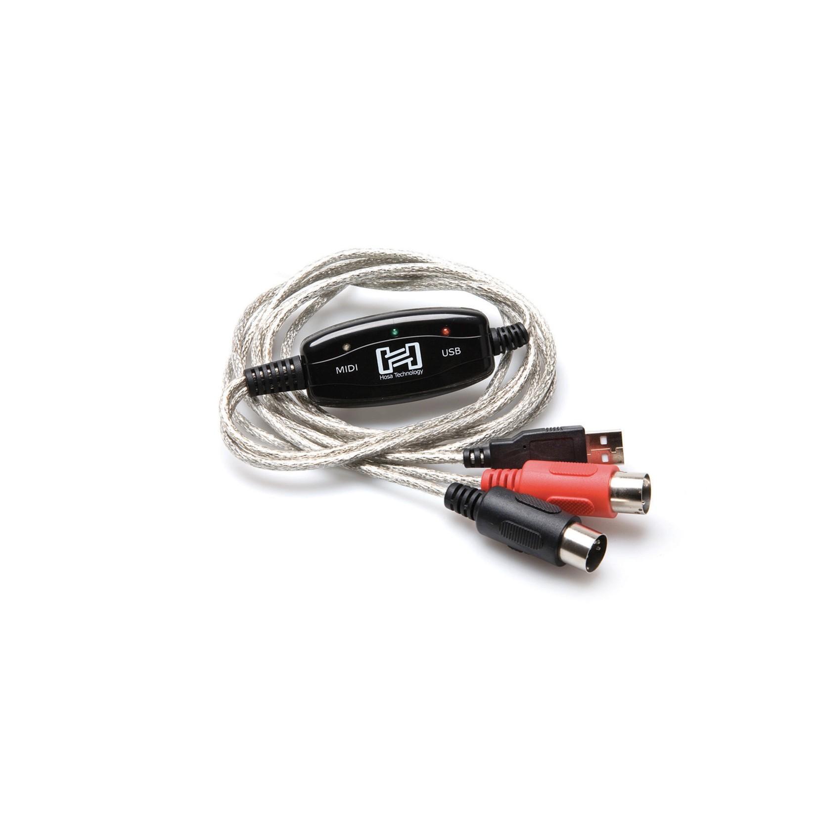 Hosa Hosa TrackLink MIDI to USB Interface, MIDI I/O to USB Type A, 6 ft (USM-422), Plug and Play!