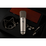 Warm Audio Warm Audio WA-87 R2 FET Condenser Microphone, Nickel - with Shockmount, Hardmount, and Wood Box