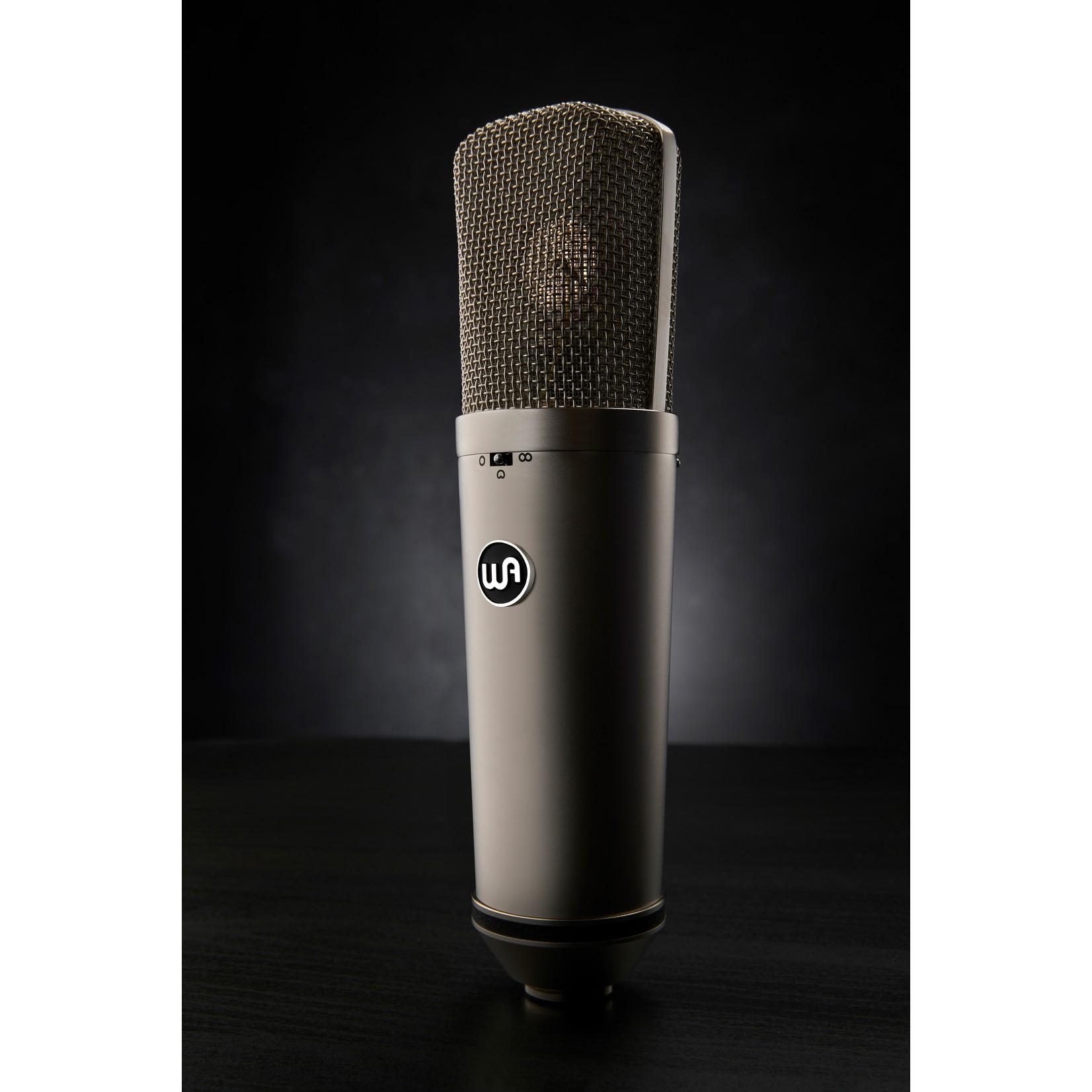 Warm Audio Warm Audio WA-87 R2 FET Condenser Microphone, Nickel - with Shockmount, Hardmount, and Wood Box