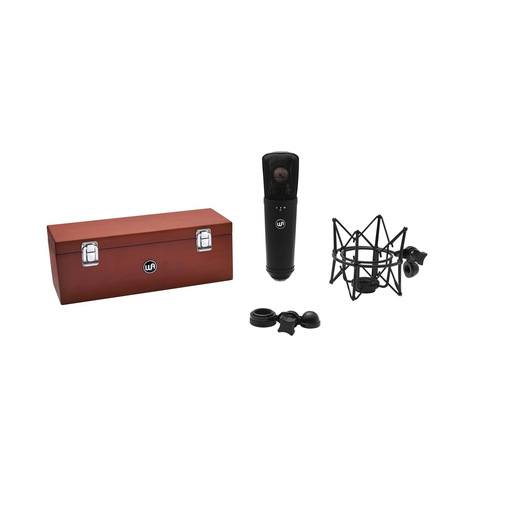Warm Audio Warm Audio WA-87 R2 FET Condenser Microphone, Black - with Shockmount, Hardmount, and Wood Box