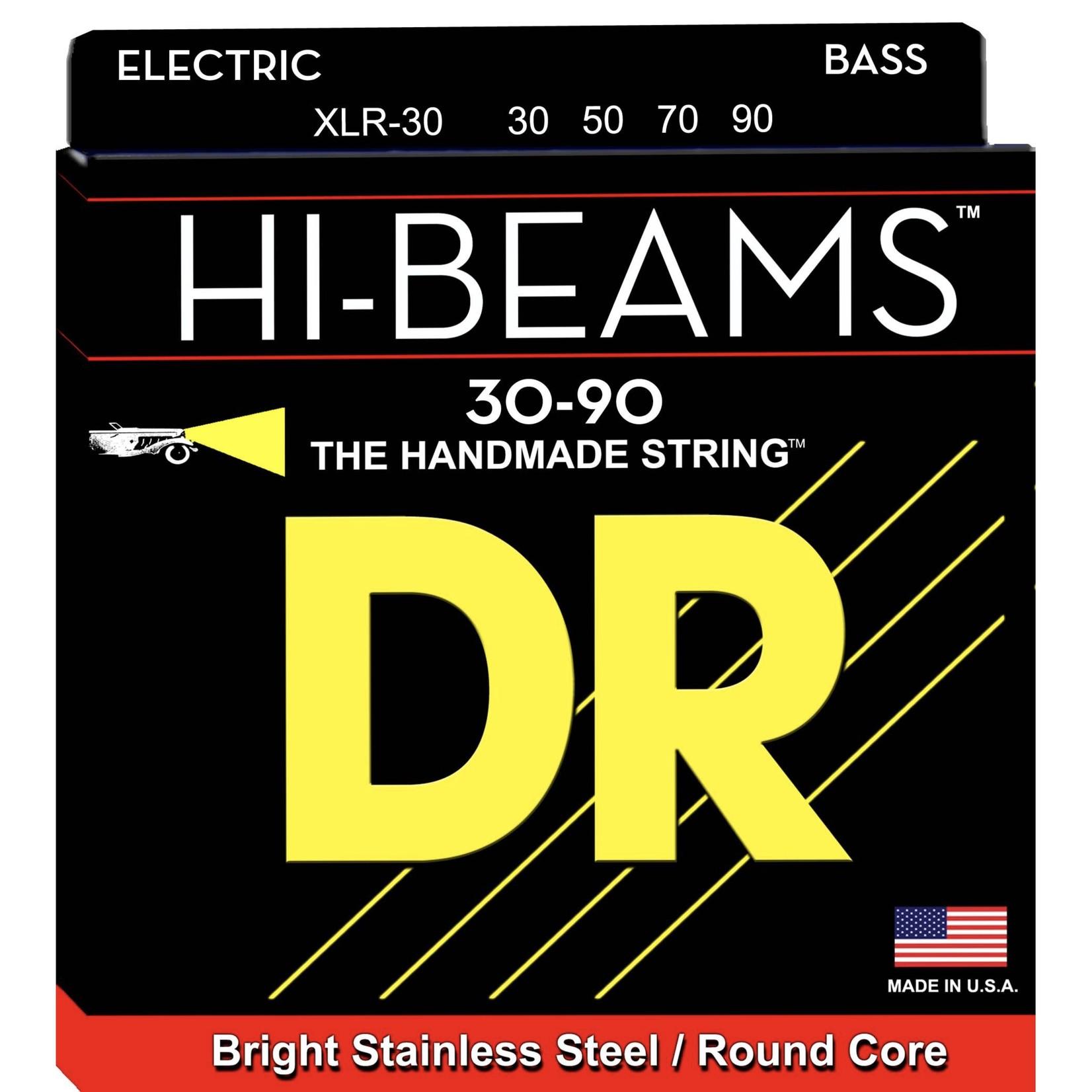 DR Strings DR Strings HI-BEAMª - Stainless Steel Bass Strings: Super Light 30-90, XLR-30