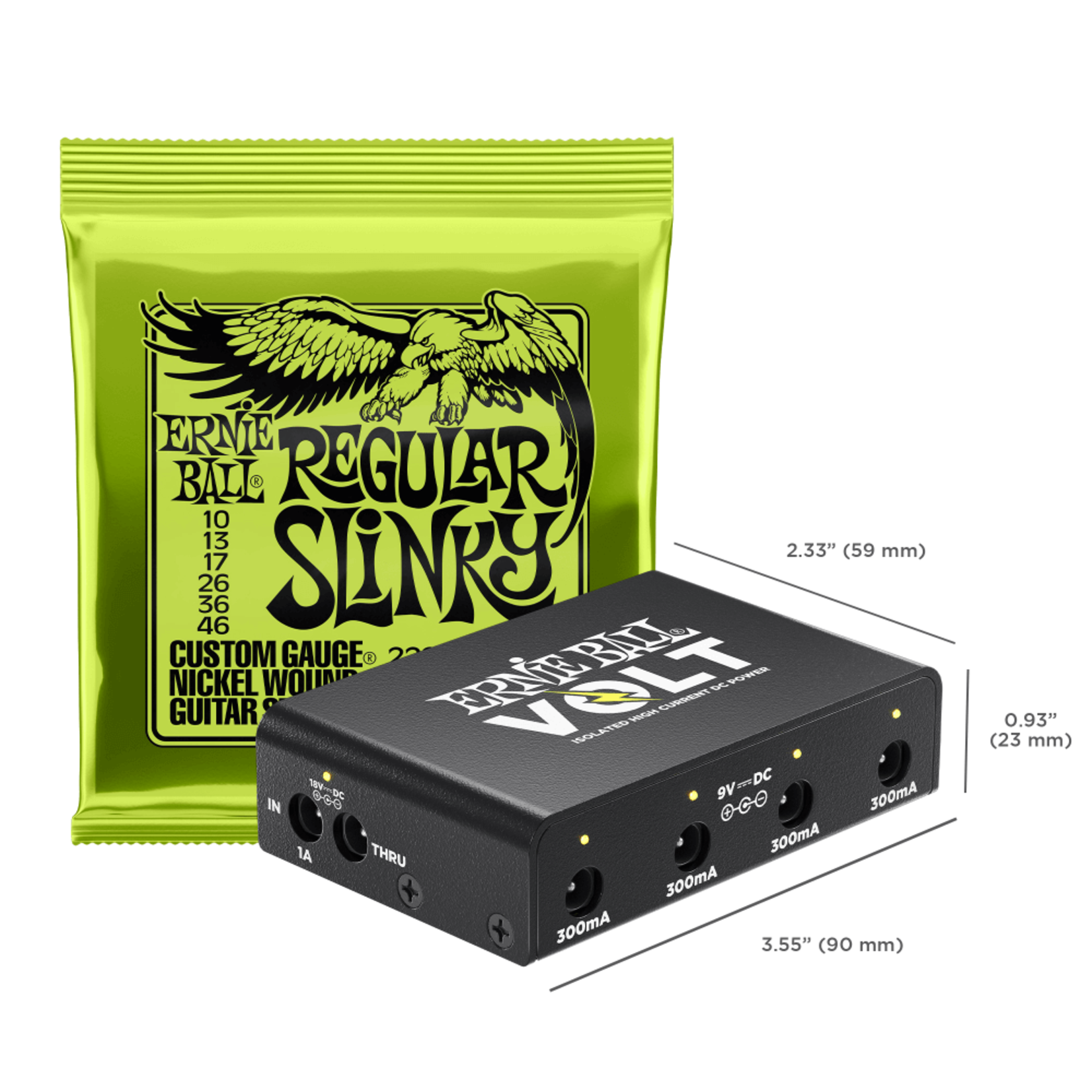Ernie Ball Ernie Ball Volt Isolated High Current DC Power Supply, Ultracompact