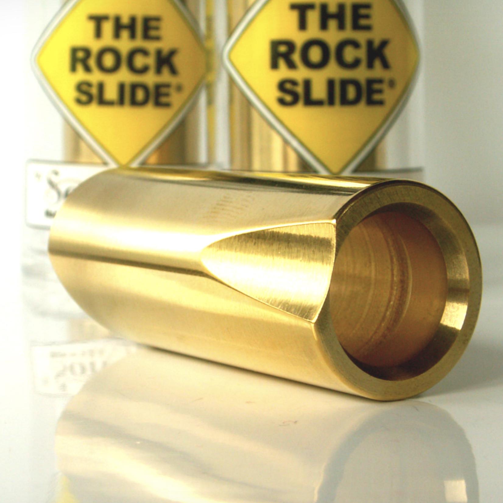 The Rock Slide The Rock Slide Polished Brass Guitar Slide - Medium - 19.5mm x 58mm - Ring Size 8-10.5