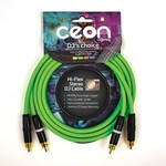 Cordial Cables Cordial Cables Premium DJ Dual/Mono (Black Light) Cable, Ceon Series - Hi-Flex DJ's Choice Stereo RCA to RCA 2-Foot Cable: Neon Green