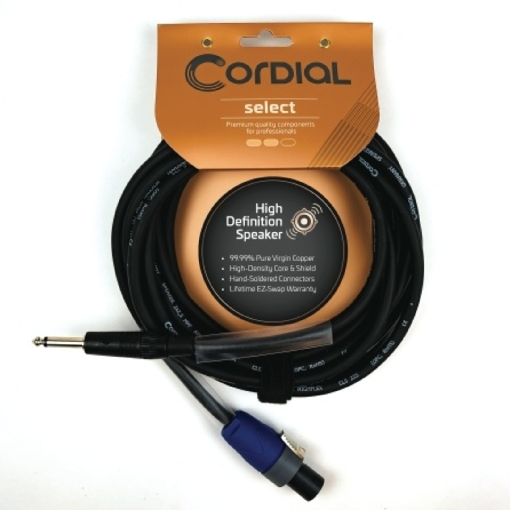 "Cordial Cables Cordial Cables Premium Speaker Cable with speakON to 1/4"" TS Connectors, Select Series - 2.5mm² Gage Selecter, 16-Foot Cable"