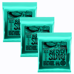 Ernie Ball 3x (3 Sets) Ernie Ball Not Even Slinky Nickel Wound Electric Guitar Strings (12-56)