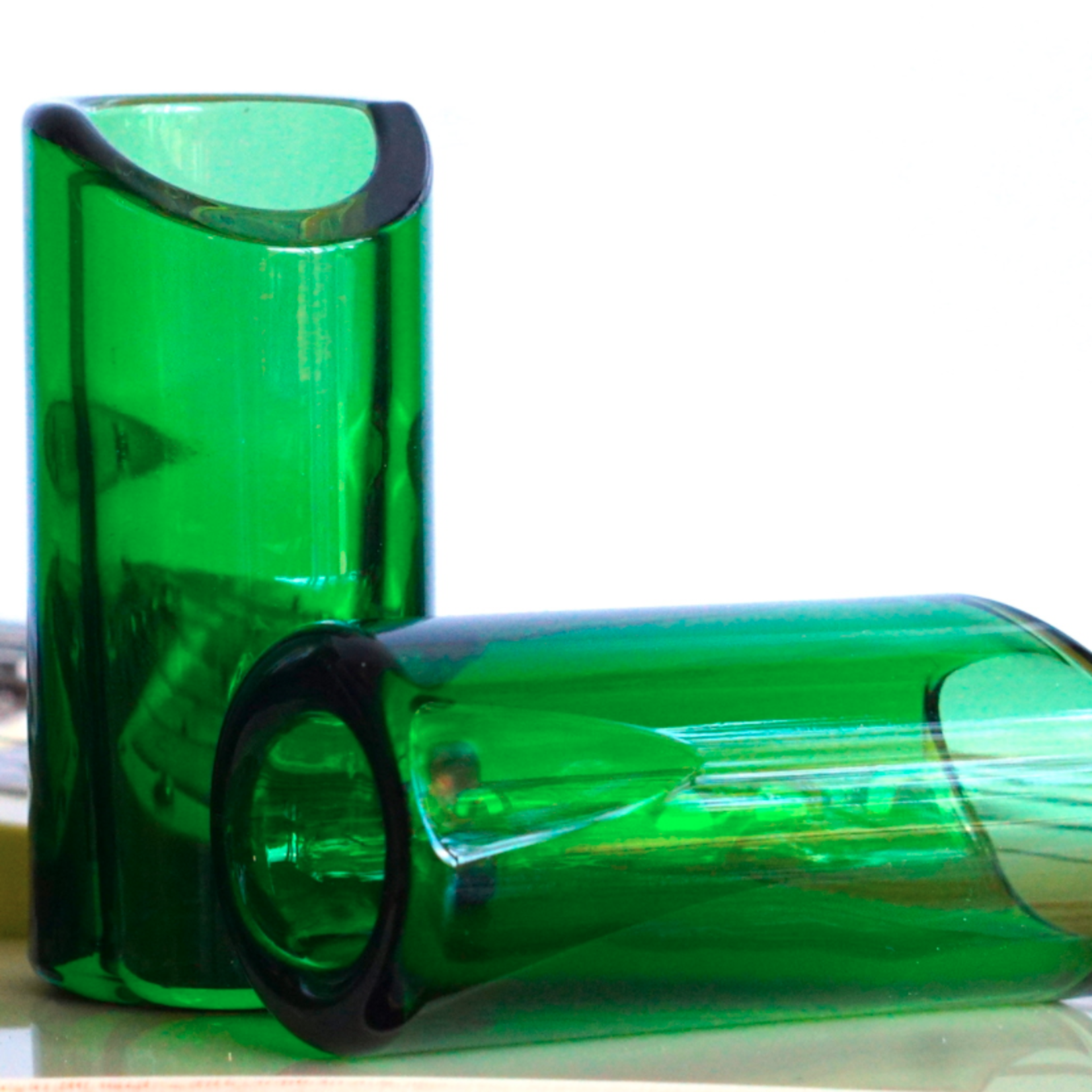 The Rock Slide The Rock Slide Custom Shop - Medium Green Glass, Ring Size 9-11