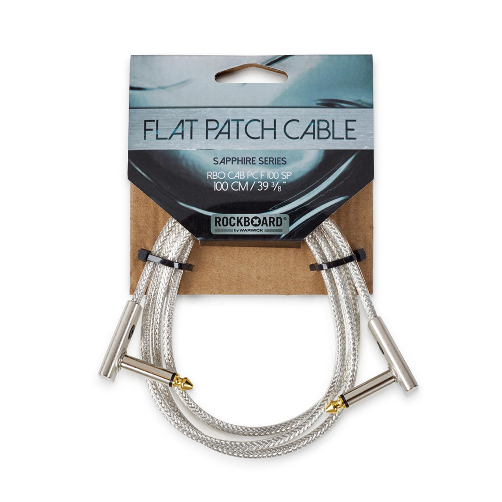 "Rockboard RockBoard Flat Patch Cable Sapphire Series - 100 cm / 39 3/8"""
