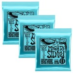 Ernie Ball 3x (3 sets) Ernie Ball Mighty Slinky Custom Gauge Nickel Wound Guitar Strings (8.5-40)