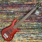 Warwick Warwick German Pro Series Streamer LX-5 String Bass - Burgundy Red Transparent Satin / Cherry Body