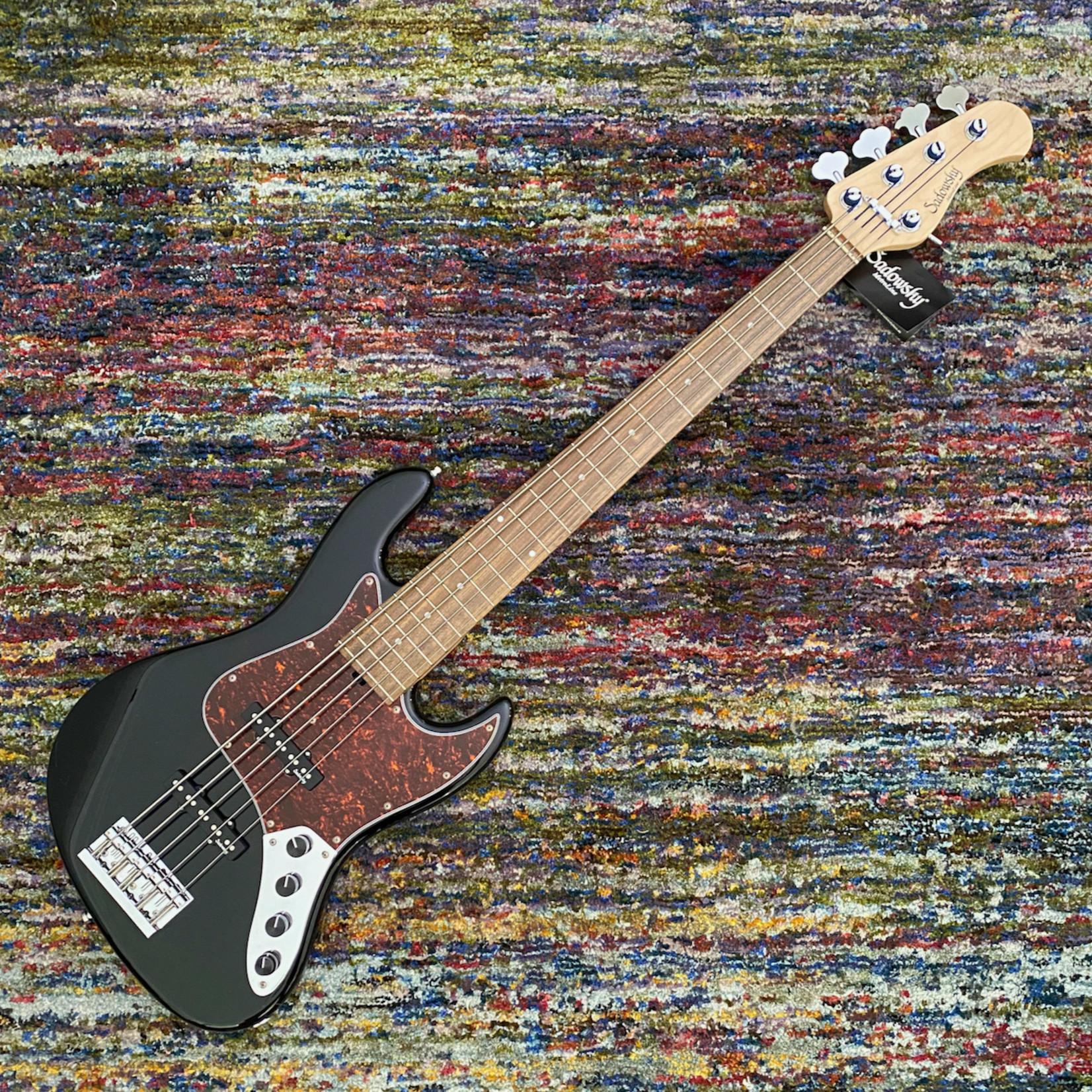 Sadowsky Sadowsky MetroLine 21-Fret Vintage J/J Bass - Red Alder Body-5 String - Solid Black High Polish