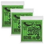 Ernie Ball 3x (3 sets) Ernie Ball 12-String Slinky Custom Gauge Nickel Wound Guitar Strings (8/22, 8/40), 2230