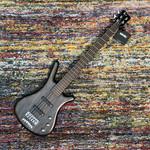 Warwick Warwick Pro Series Corvette Ash-5 String Bass, Active, Nirvana Black Transp. Satin, Germany (2020, Blem)